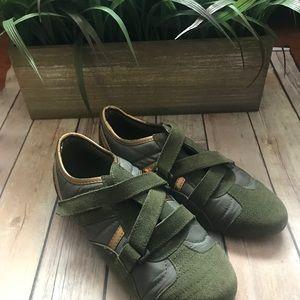 316ee0629c7 Steve Madden Shoes - Olive Green Steve Madden Velcro Tennis Shoes